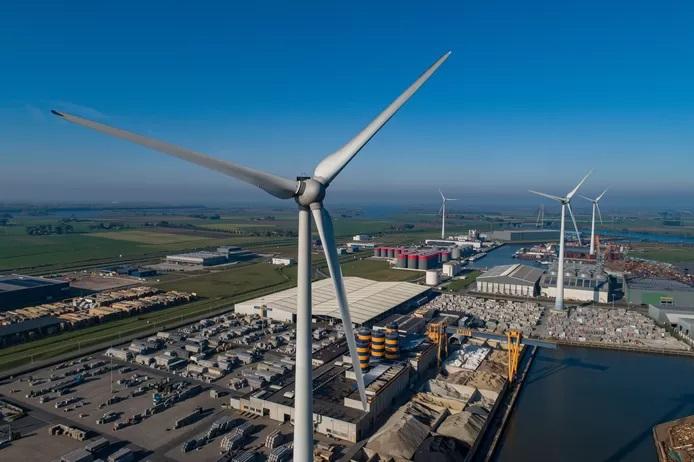 De opbrengst van een mega windturbine
