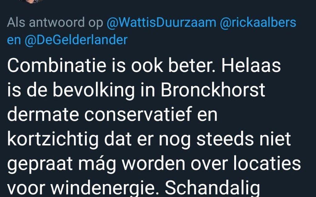 GroenLinks: de bevolking van Bronckhorst is kortzichtig en gedraagt zich schandalig